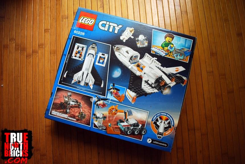 Rear box art for Mars Research Shuttle.