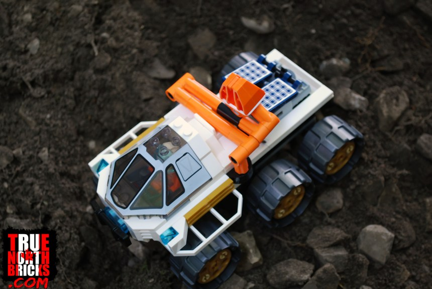 Overhead view of the rover.