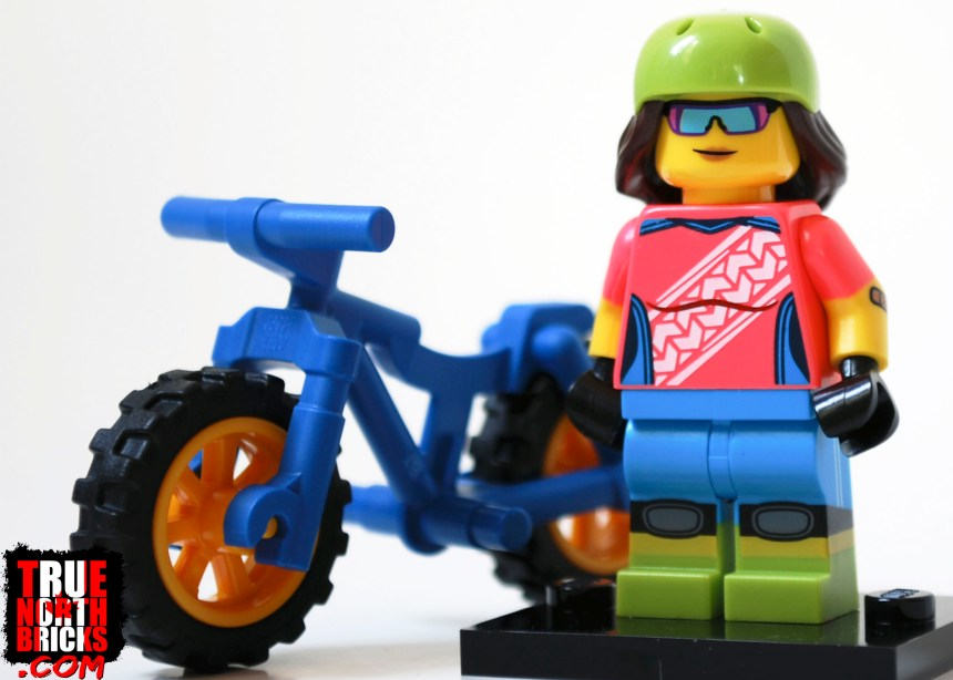 The Mountain Biker from Minifigures Series 19.