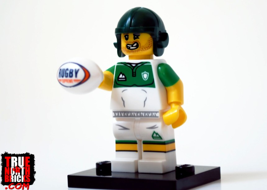 Rugby Player from Minifigures Series 19.