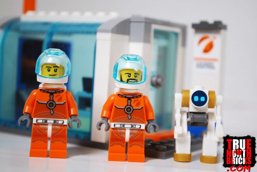 Astronaut Minifigures and robot.