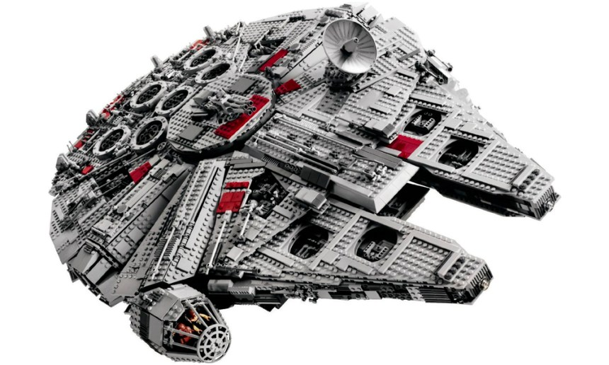The fourth biggest LEGO set, the Millennium Falcon.