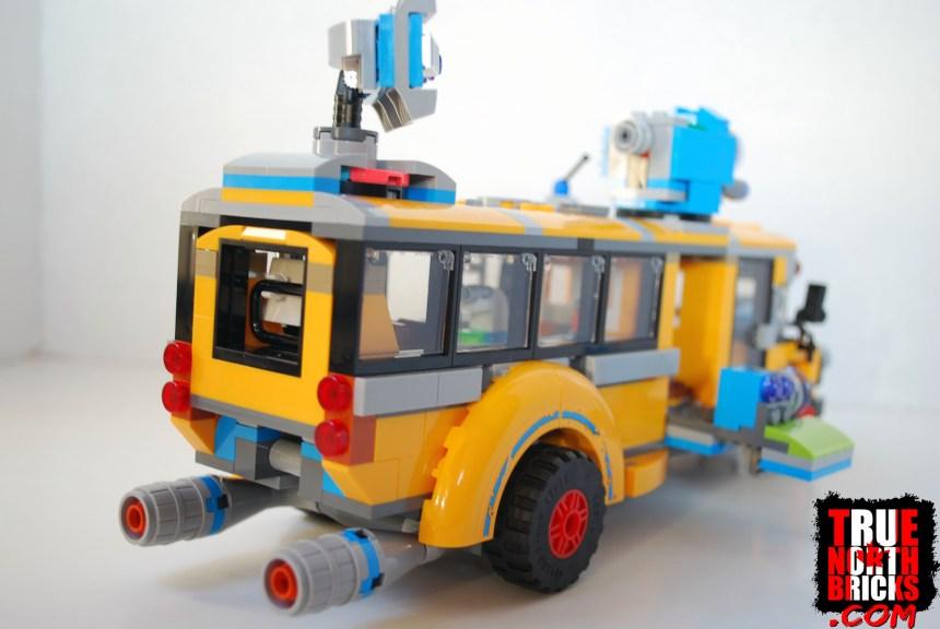 Paranormal Intercept Bus 3000 rear view.
