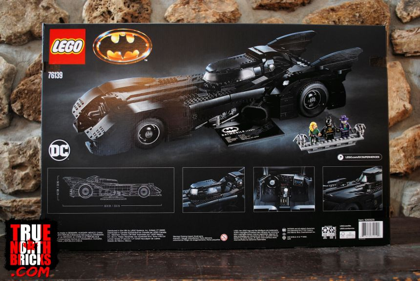 1989 Batmobile (76139) rear box art.