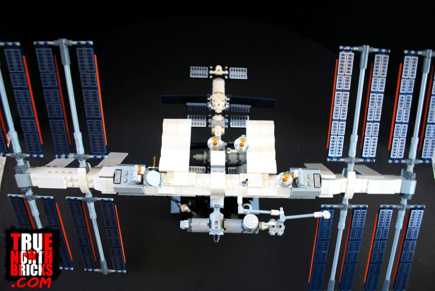 Overhead view of the International Space Station.