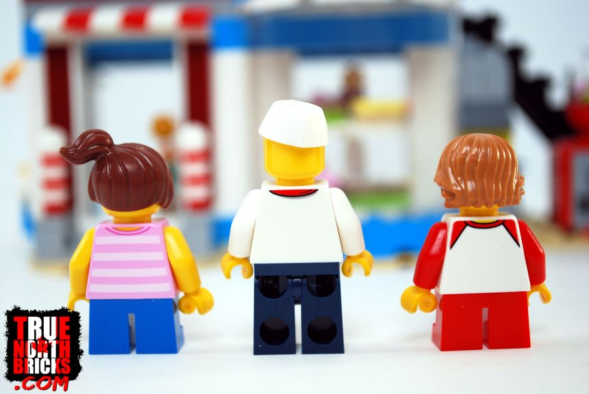 Rear view of Minifigures in Modular Sweet Surprises.