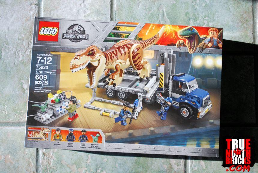 T. rex Transport (75933) front box art.