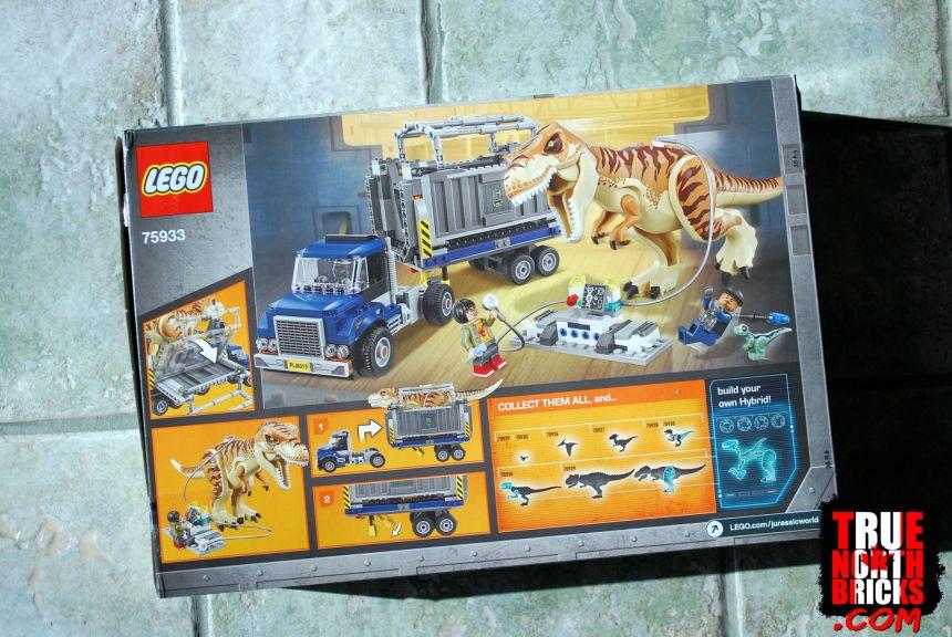 T. rex Transport (75933) rear box art.