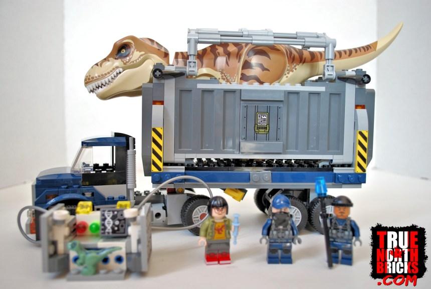 T. rex Transport (75933) box contents.