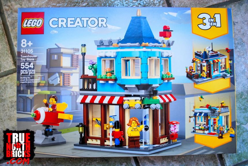 Townhouse Toy Store (31105) front box art.