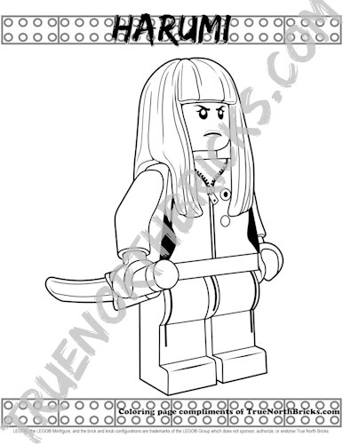 Sample of Avatar Harumi coloring page.