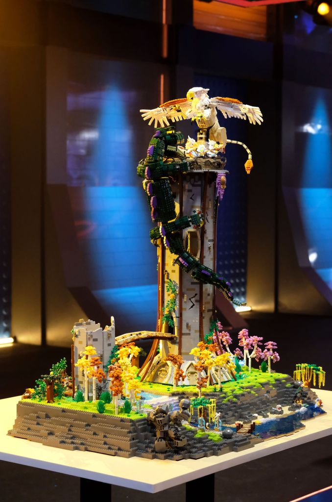 """""""Treasure of the Griffon"""" by Tyler and Amy in the LEGO Masters Finale."""