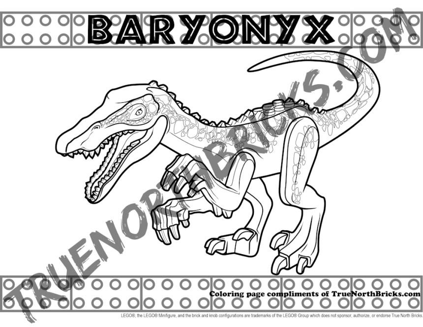 Baryonyx coloring page
