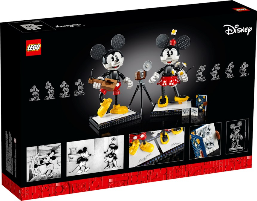 Mickey and Minnie buildable characters rear box art.