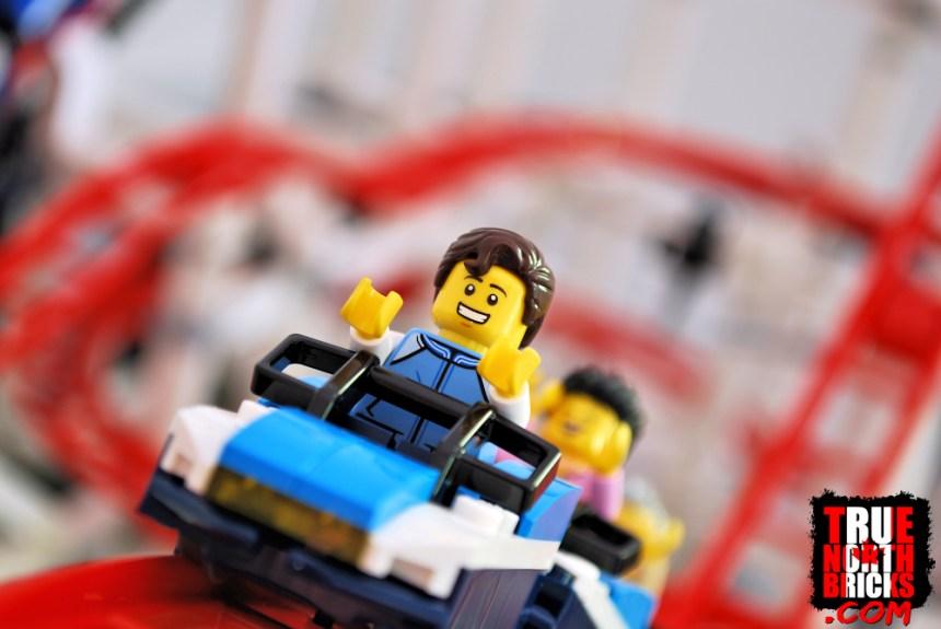 Fun Fair Minifigure on the Creator Expert Roller Coaster.