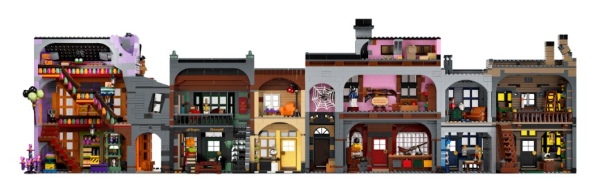 Rear view of Diagon Alley (75978) coming soon.