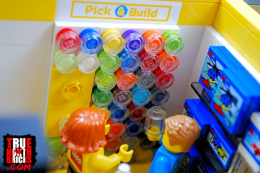 LEGO® Store Pick-and-Build wall.