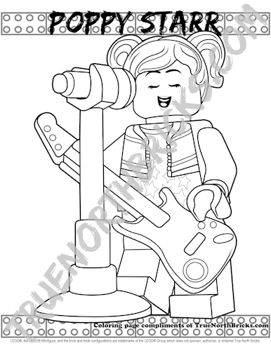 Poppy Starr coloring page sample.