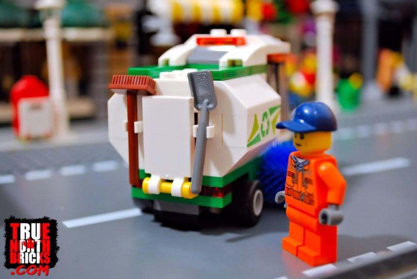 Street Sweeper rear view.