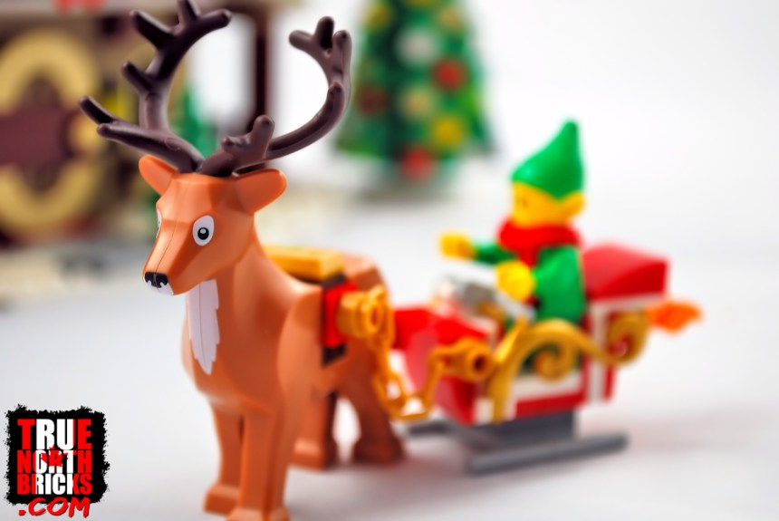 Reindeer and sleigh from Elf Club House (10275).