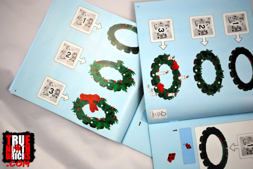 The base structure for the Christmas Wreath (40426) is the same for both versions of the build.