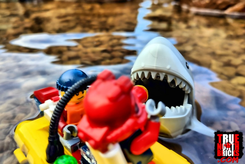 The Ocean Exploration Ship (60266) comes with a shark large enough to eat a Minifigure.