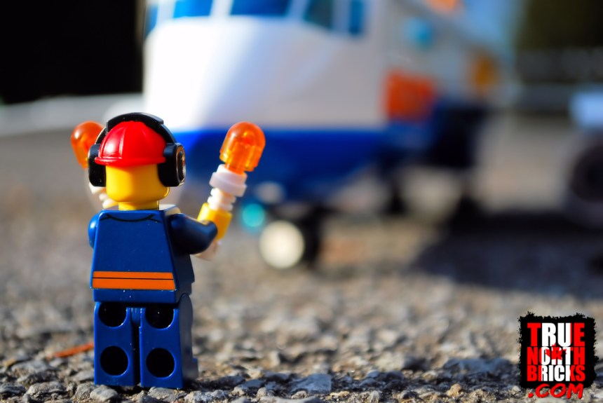 Passenger Airplane (60262) being directed by a Minifigure