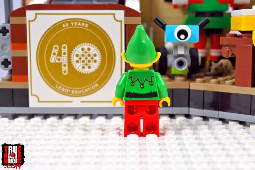 2020 Employee Christmas Gift Minifigure rear view.
