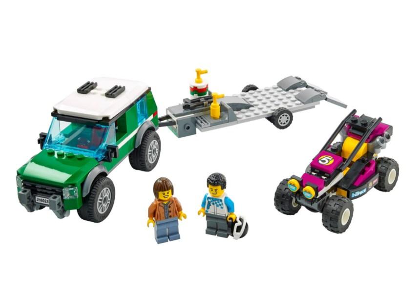 January 2021 City Sets: Race Buggy Transporter