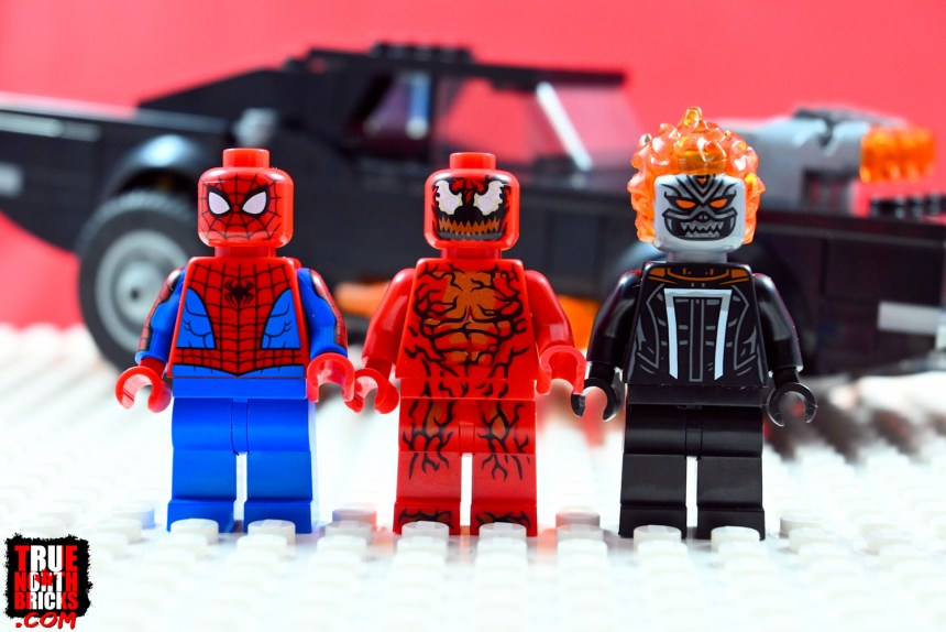 Spider-Man and Ghost Rider VS Carnage Minifigures