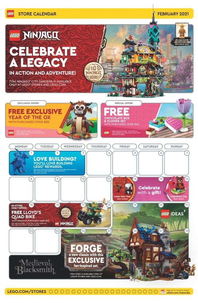 February 2021 Store Calendar