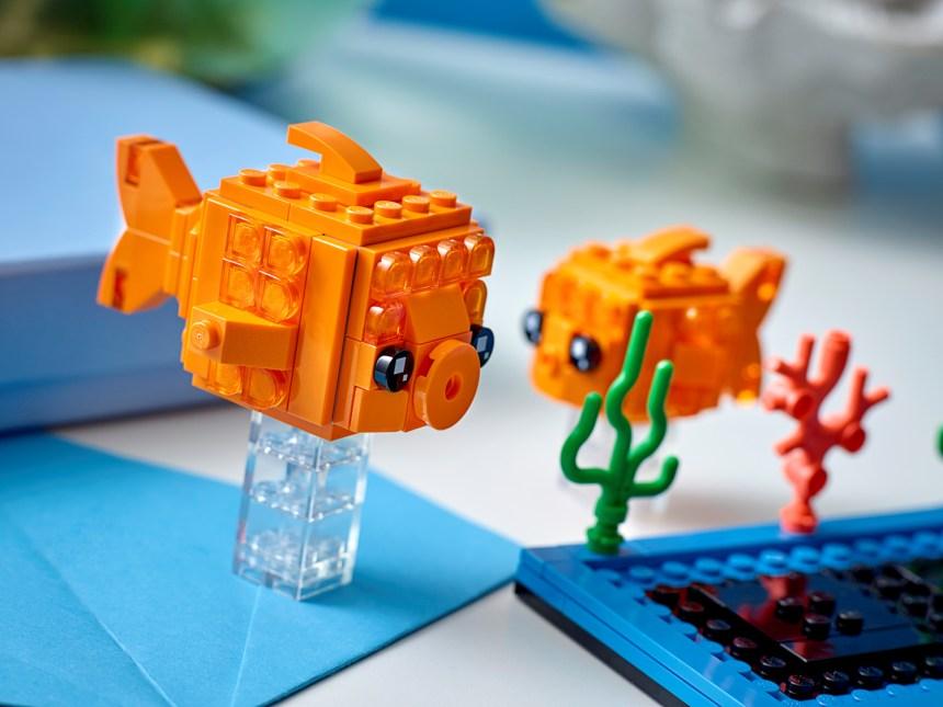 Goldfish BrickHeadz Pets coming soon.
