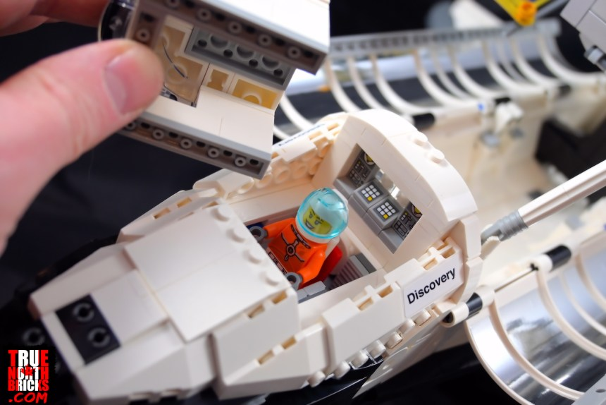 The NASA Space Shuttle Discovery (10283) easily modifies into a minifig compatible playset.