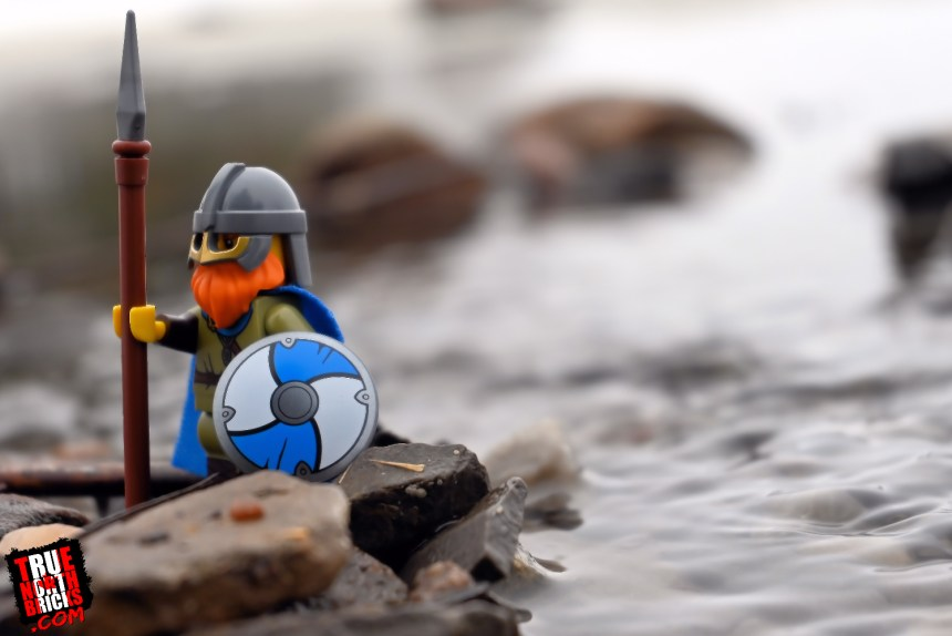 Minifigure Monday: Viking photo that I took which eventually inspired a drawing.