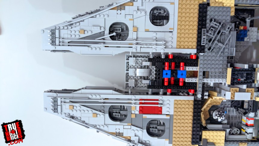 The nose section takes shape on Millennium Falcon day 7.