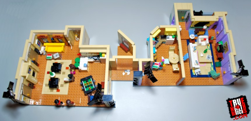 Overhead view of the FRIENDS Apartments (10292) set.
