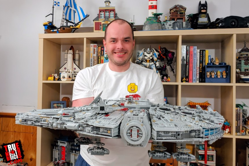 Millennium Falcon Day 10: me with the completed build.