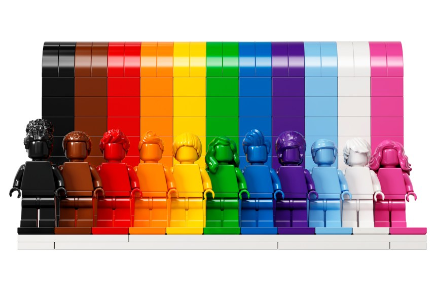 """LEGO® celebrates fan diversity with new set """"Everyone Is Awesome""""."""