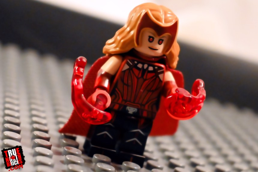 Marvel Studios Minifigures feel guide for Scarlet Witch.