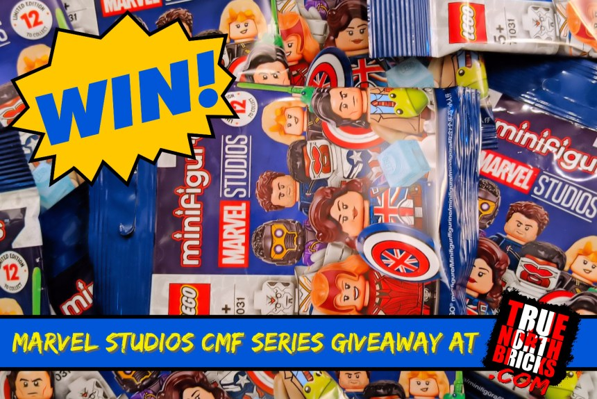 September 2021 LEGO Giveaway from True North Bricks. Win 12 Marvel Studios Minifigures.