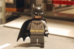 LEGO Batman, front view.