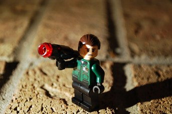 LEGO LexCorp Goon front view.