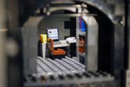 MOC LEGO Store computer terminal.