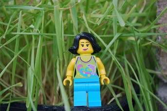LEGO Easter Egg Hunt - Woman Minifig front view
