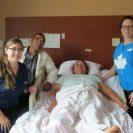 Cuenca university medical student, Emilia (left of patient) is invaluable to the team as a volunteer translator.