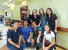 All of these Cuenca medical university students have been at our side continually throughout the mission...from clinic day to patient discharge. This is their vacation week and they are very happy to assist and learn.