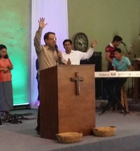 Pastor Francisco leads a very spirit filled church.