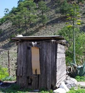 Outhouse at Las Joyas