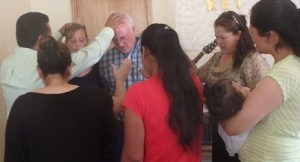 Pastor Reynaldo and entire congregation prayed for Tonyia and I on my birthday.