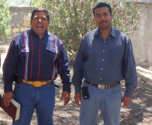 Evangelist Remero (left) and Pastor Reynaldo came to support the event.